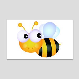 Cute Cartoon Bumble Bee 22x14 Wall Peel