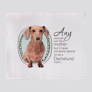 Dachshund Mom Throw Blanket