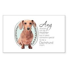 Dachshund Mom Sticker (Rectangle 50 pk)