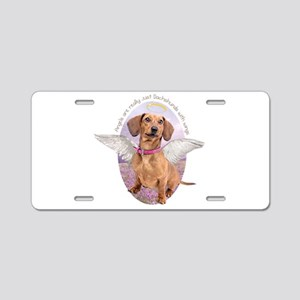 Dachshund Angel Aluminum License Plate