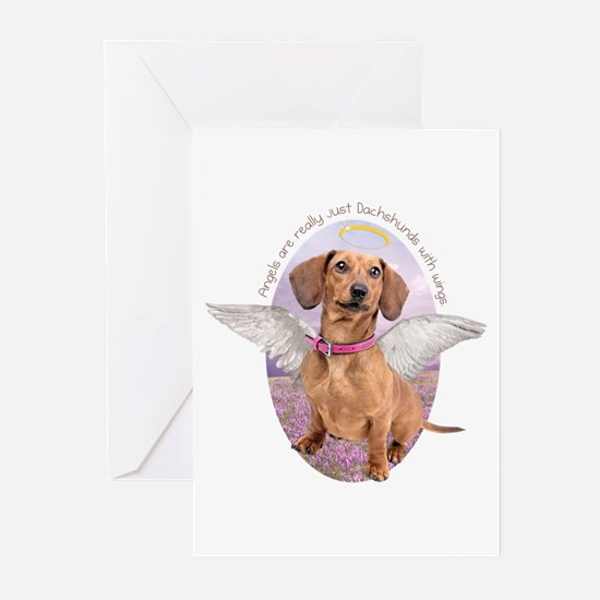 Dachshund Angel Greeting Cards (Pk of 20)