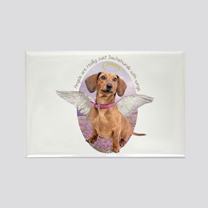 Dachshund Angel Rectangle Magnet