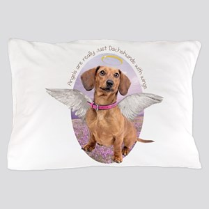 Dachshund Angel Pillow Case