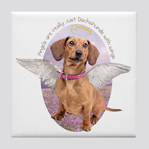Dachshund Angel Tile Coaster