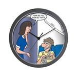 Airline Seatbelt Issues Wall Clock