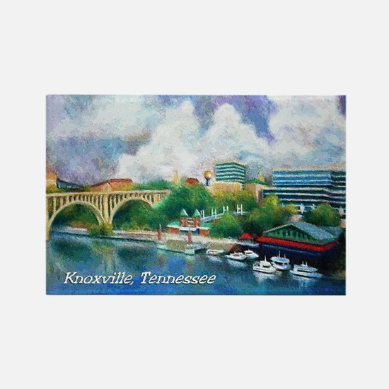 Knoxville, TN Riverfront Rectangle Magnet