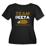 Team Peeta Women's Plus Size Scoop Neck Dark T-Shi