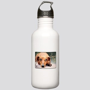 """""""I Didn't Do It"""" Dachshund Stainless Water Bottle"""