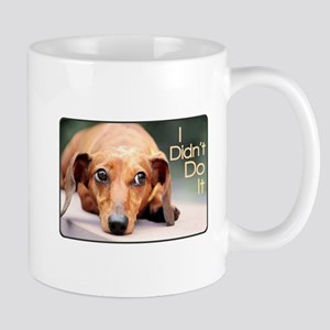 """I Didn't Do It"" Dachshund Mug"