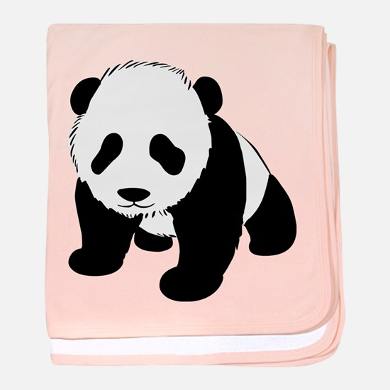 Baby Panda Cub Crawling baby blanket