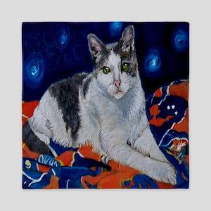 Kitty on a Blanket Queen Duvet