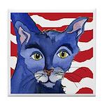 Cat 5 Celebrates the 4th Tile Coaster