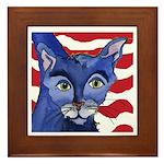 Cat 5 Celebrates the 4th Framed Tile