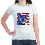 Cat 5 Celebrates the 4th Jr. Ringer T-Shirt
