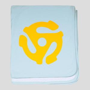 45 Record Vinyl Adapter baby blanket