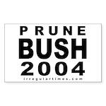 Prune Bush Bike Rectangle Sticker