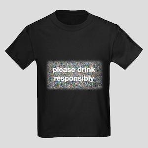 Plastic Bottles Kids Dark T-Shirt