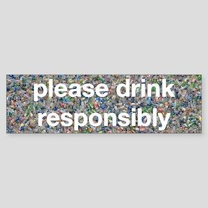 Plastic Bottles Sticker (Bumper)