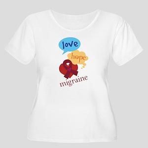 Love Hope Migraine Women's Plus Size Scoop Neck T-