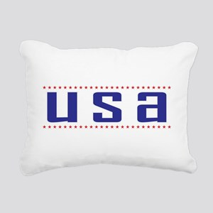 USA red white blue Rectangular Canvas Pillow