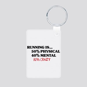 Running is... 50% Physical, 4 Aluminum Photo Keych