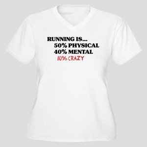 Running is... 50% Physical, 4 Women's Plus Size V-