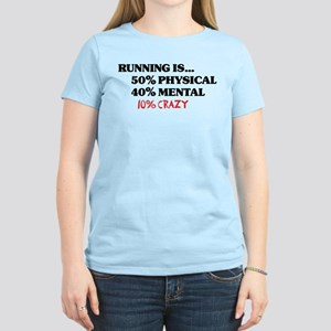 Running is... 50% Physical, 4 Women's Light T-Shir