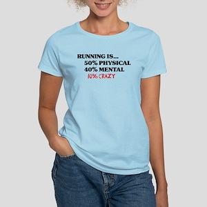 Running is... 50% Physical, 4 Women's Light T-Shir
