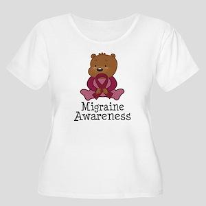Migraine Awareness Teddy Bear Women's Plus Size Sc