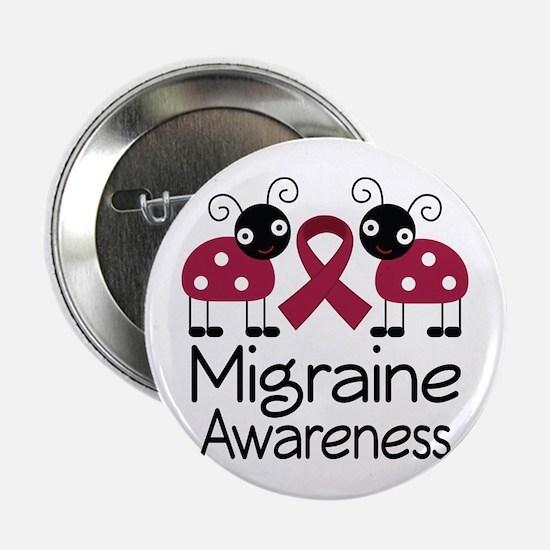 "Migraine Awareness Ladybug 2.25"" Button"