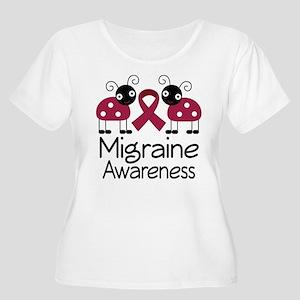 Migraine Awareness Ladybug Women's Plus Size Scoop