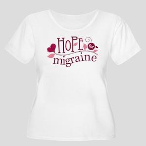Hope For Migraine Women's Plus Size Scoop Neck T-S