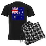 Vintage Australian Flag Men's Dark Pajamas