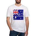 Vintage Australian Flag Fitted T-Shirt