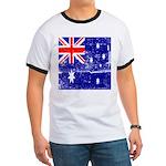 Vintage Australian Flag Ringer T