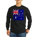 Vintage Australian Flag Long Sleeve Dark T-Shirt