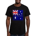 Vintage Australian Flag Men's Fitted T-Shirt (dark