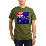 Vintage Australian Flag Organic Men's T-Shirt (dar