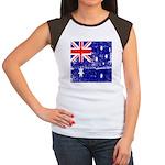 Vintage Australian Flag Women's Cap Sleeve T-Shirt