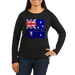 Vintage Australian Flag Women's Long Sleeve Dark T