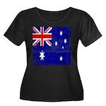 Vintage Australian Flag Women's Plus Size Scoop Ne