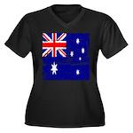 Vintage Australian Flag Women's Plus Size V-Neck D