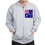 Vintage Australian Flag Zip Hoodie