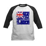 Vintage Australian Flag Kids Baseball Jersey