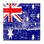 Vintage Australian Flag Tile Coaster