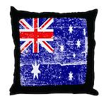 Vintage Australian Flag Throw Pillow