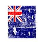 Vintage Australian Flag Throw Blanket