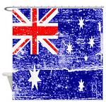 Vintage Australian Flag Shower Curtain
