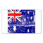 Vintage Australian Flag Sticker (Rectangle)