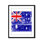 Vintage Australian Flag Framed Panel Print